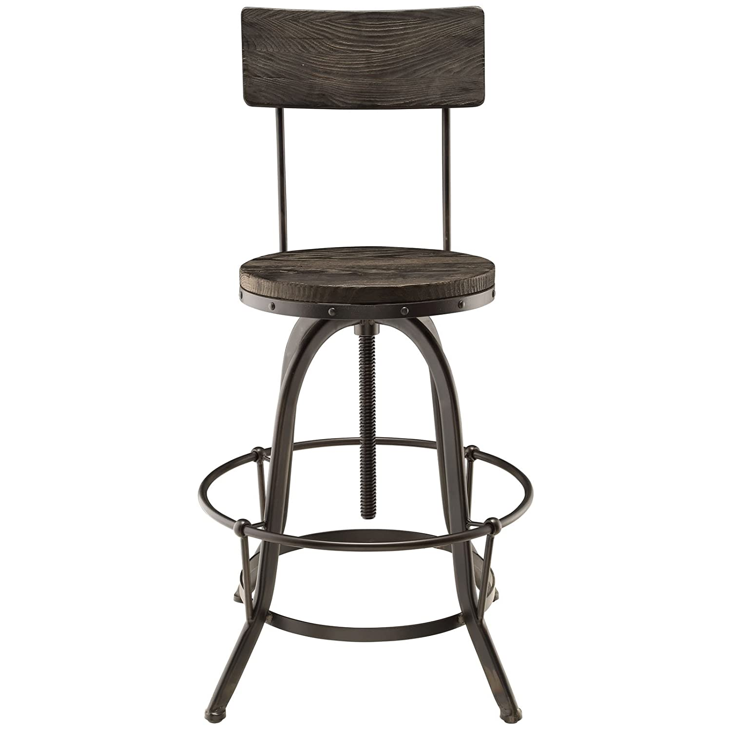 Amazon Modway Procure Wood Bar Stool Black Kitchen Dining