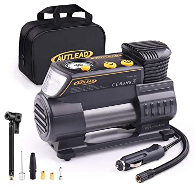 AUTLEAD C2 12V DC Portable Air Compressor Heavy Duty Tire Inflator Pump with Digital Gauge for Car Tires and Other Inflatables: Automotive