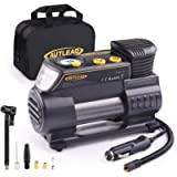 AUTLEAD C2 Tire Inflator Air Compressor Pump 12V DC Portable Multifunctional Tire Pump with Digital Gauge for Car Bike…
