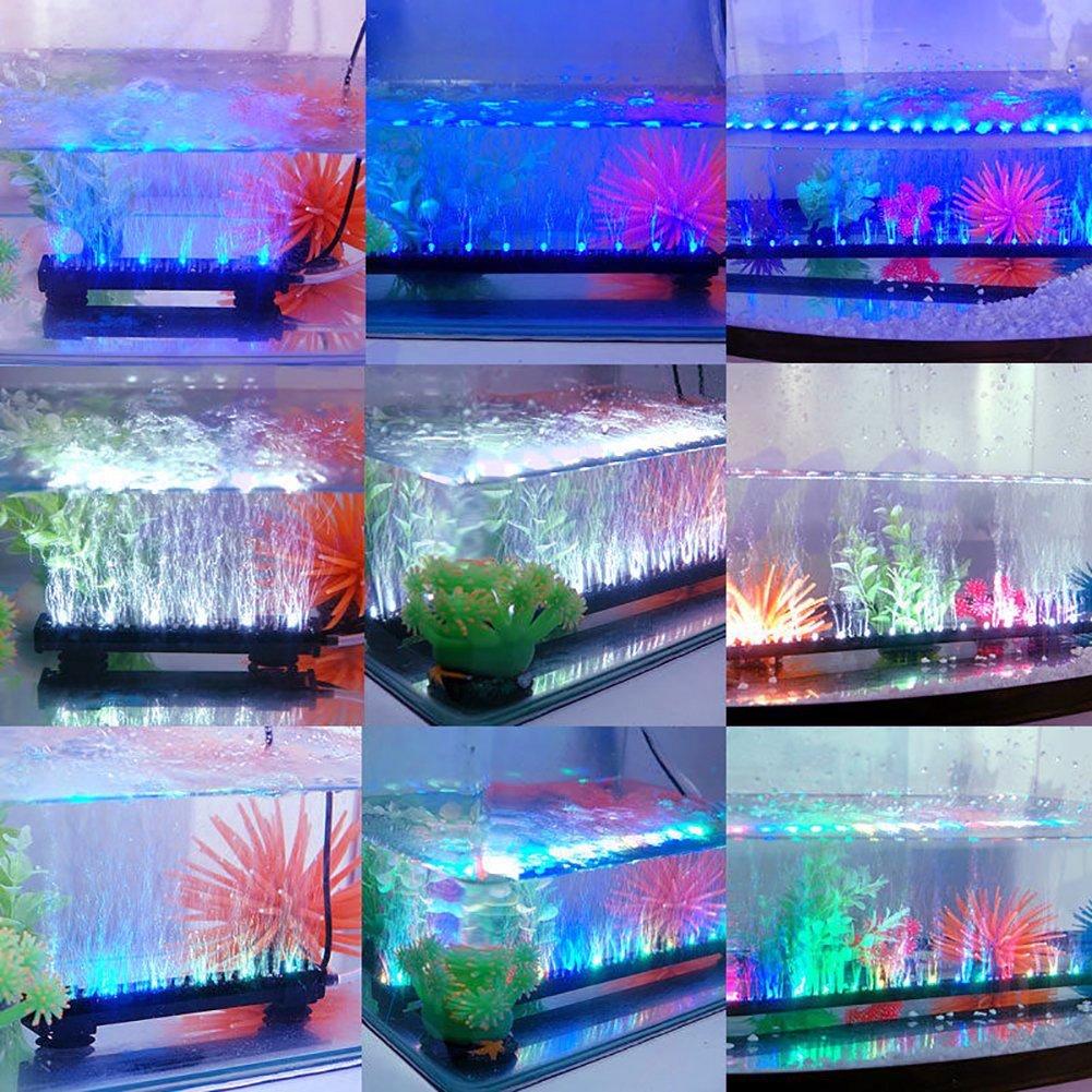 MPTECK@ 46 cm LED Lampara Acuario Pecera Sumergible Tira de luz LED R / G / B sellada RGB coloca cerca del agua pr acuario / pecera Sumergible Submarino + ...