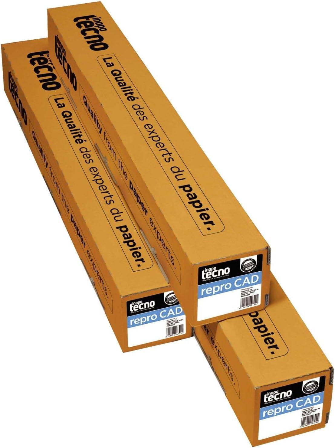 Inapa Tecno 0253 080 61 10 9 Inkjet papeles para plotter ruedas y formatos 610 mm x 50 m Color Blanco: Amazon.es: Oficina y papelería
