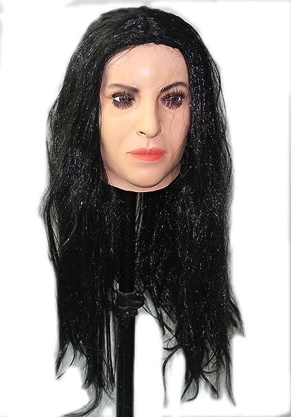 Y-H Hy Female Latex Mask with Wig Soft & Sexy: Amazon.es: Ropa y accesorios