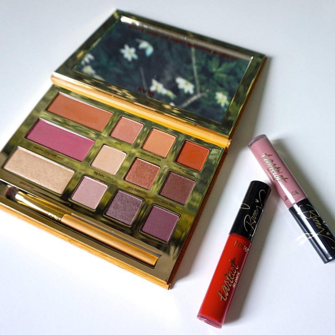 Tarte Cosmetics Graveyard Girl Swamp Queen Palette Limited Edition Set with Texas Toast and Swamp Family Lip Paint