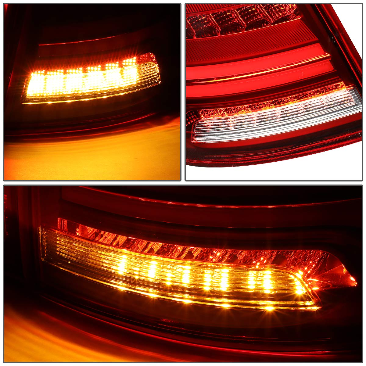 DNA Motoring TL-3DLB-VWJET12-RDCL 3D LED Bar+Sequential Signal Tail Light