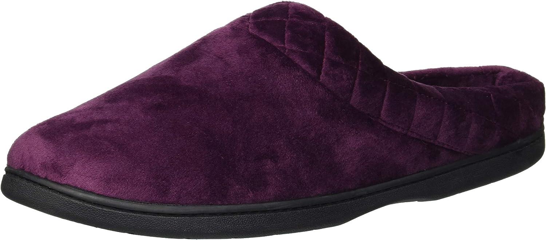 Grey Dearfoams Velour Clog Womens  Slippers Casual Size S B