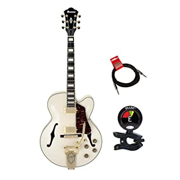 Ibanez af75tdgiv AF serie Vintage Vibrato para guitarra eléctrica, marfil con clip On Sintonizador y Strukture 10 ft cable para instrumento: Amazon.es: ...