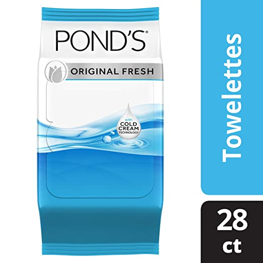 Pond's Makeup Remover Wipes, Original Fresh, 28 ct, Pack of 4