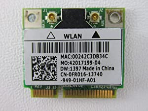 Dell Mini PCI Express Half Height FR016 WLAN WiFi 802.11g Wireless Card Inspiron 1545 11z 1464 1564