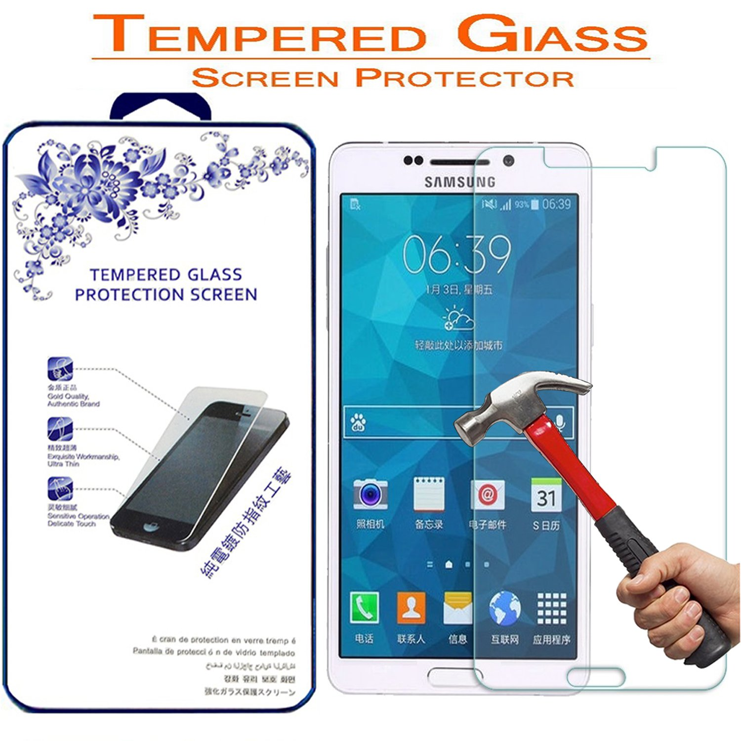 vente chaude authentique Prix ​​de gros 2019 style attrayant Glass Screen Protector,for Samsung Galaxy A5 (2016) SM-A510F Nacodex  Tempered Glass Screen Protector (for Samsung Galaxy A5 (2016) SM-A510F)