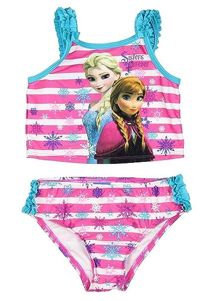 1045b53d5e Amazon.com: Disney Frozen Little Girls Elsa Anna Two Piece Tankini ...