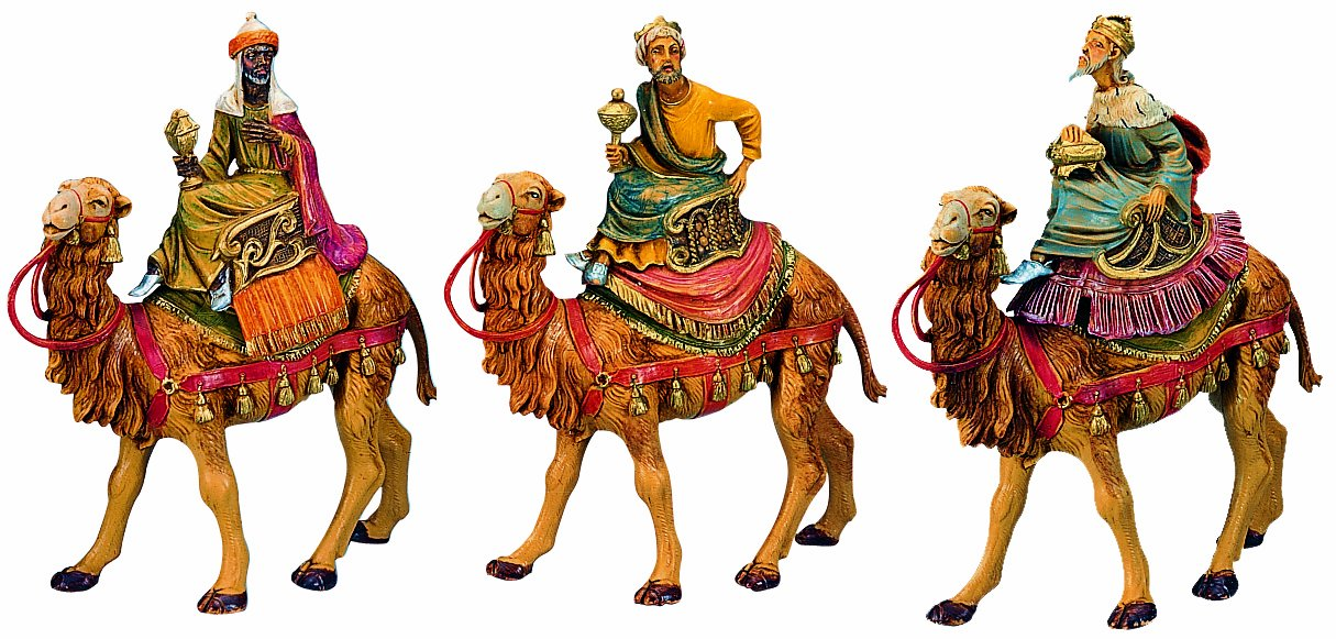 Fontanini by Roman Three Kings on Camels Set 3-Piece 5-Inch Each