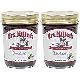 Mrs. Miller's Amish Homemade Elderberry Preserves 8 Oz. - Pack of 2 (Boxed)