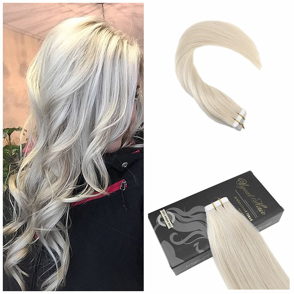 Amazon Ugeat Tape In Light Blonde Hair Extensions 20 20pcs