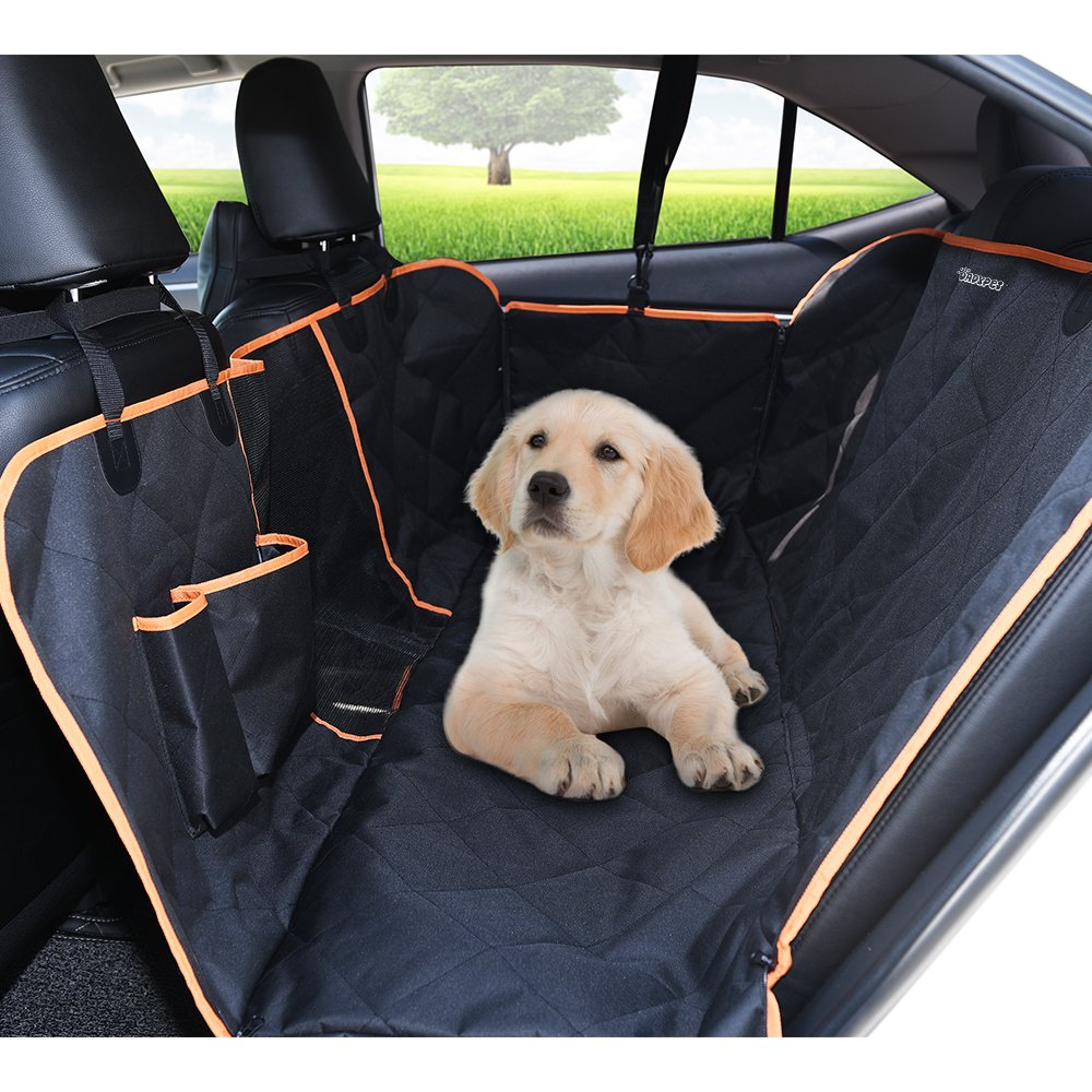DADYPET Dog Car Seat Covers,Waterproof Car Seat Cover for Dogs Pet Car Seat Cover 600D Heavy Duty Scratch Proof Nonslip Durable Soft Dog Car Hammock for Cars,Trucks and SUVs