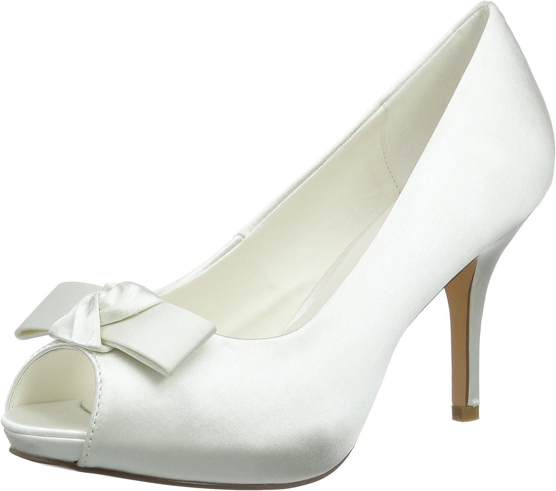 TALLA 37 EU. Menbur Wedding Luz, Zapatos de tacón con Punta Cerrada para Mujer