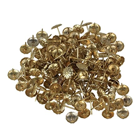 8 x 9mm Silver Iron Round Dome Head Upholstery Nails Stud Tack Pack of 200