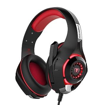 Auriculares Gaming, Vobon Cascos de Juego 3.5mm Jack Estéreo Cancelación de Ruido Audífonos Diadema