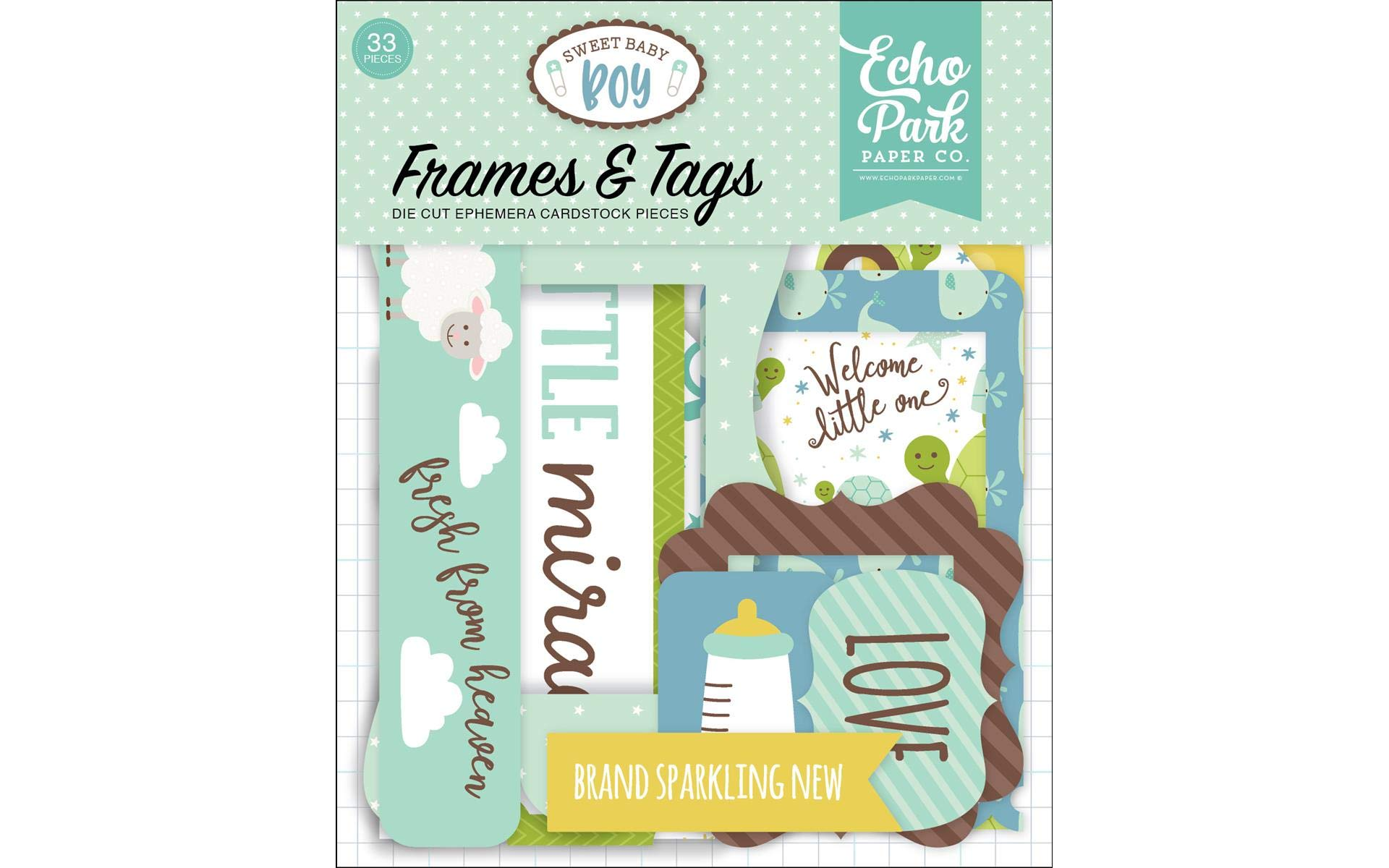 Echo Park Paper Company Sweet Baby Boy Frames & Tags