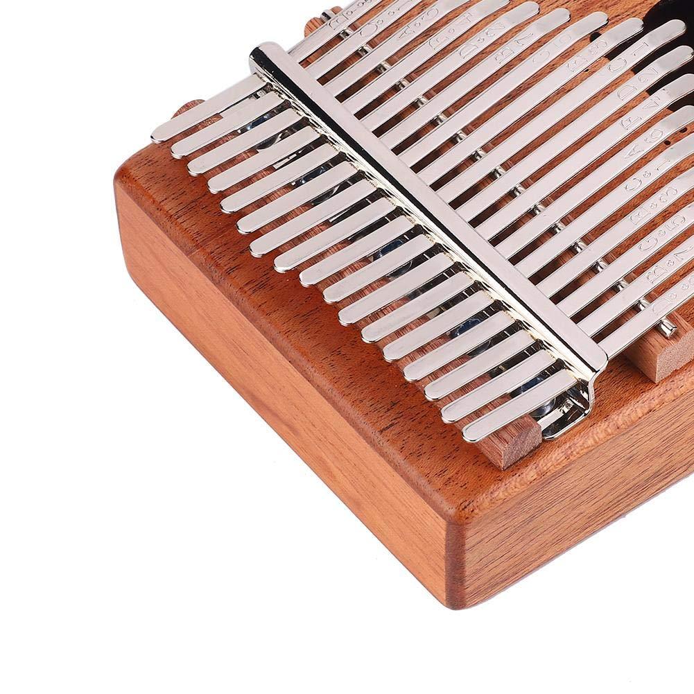 RiToEasysports 17 Keys Mahogany Kalimba Thumb Finger Piano Musical Instrument Set Portable