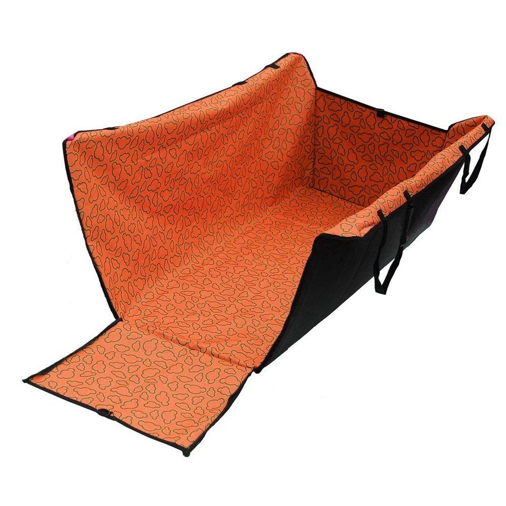 Ari_Mao Doppio strato impermeabile Pet Dog Cat sicurezza sicurezza amaca di viaggio Car Seat coprisedet Mat coperta (arancione)