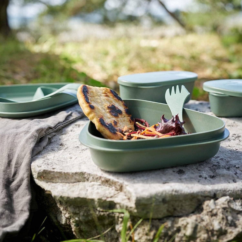piatto spork e contenitori di stoccaggio Kit da campeggio con tazza ciotola Light My Fire MealKit BIO