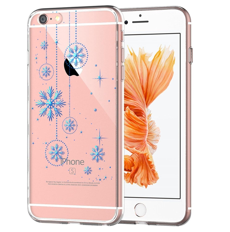 Funda iPhone6/6s Plus, Golbsky Funda Transparente Suave TPU Gel [Ultra Fina] [Protección a Bordes y Cámara] Enjaca Perfecta para Apple iPhone6/6s Plus