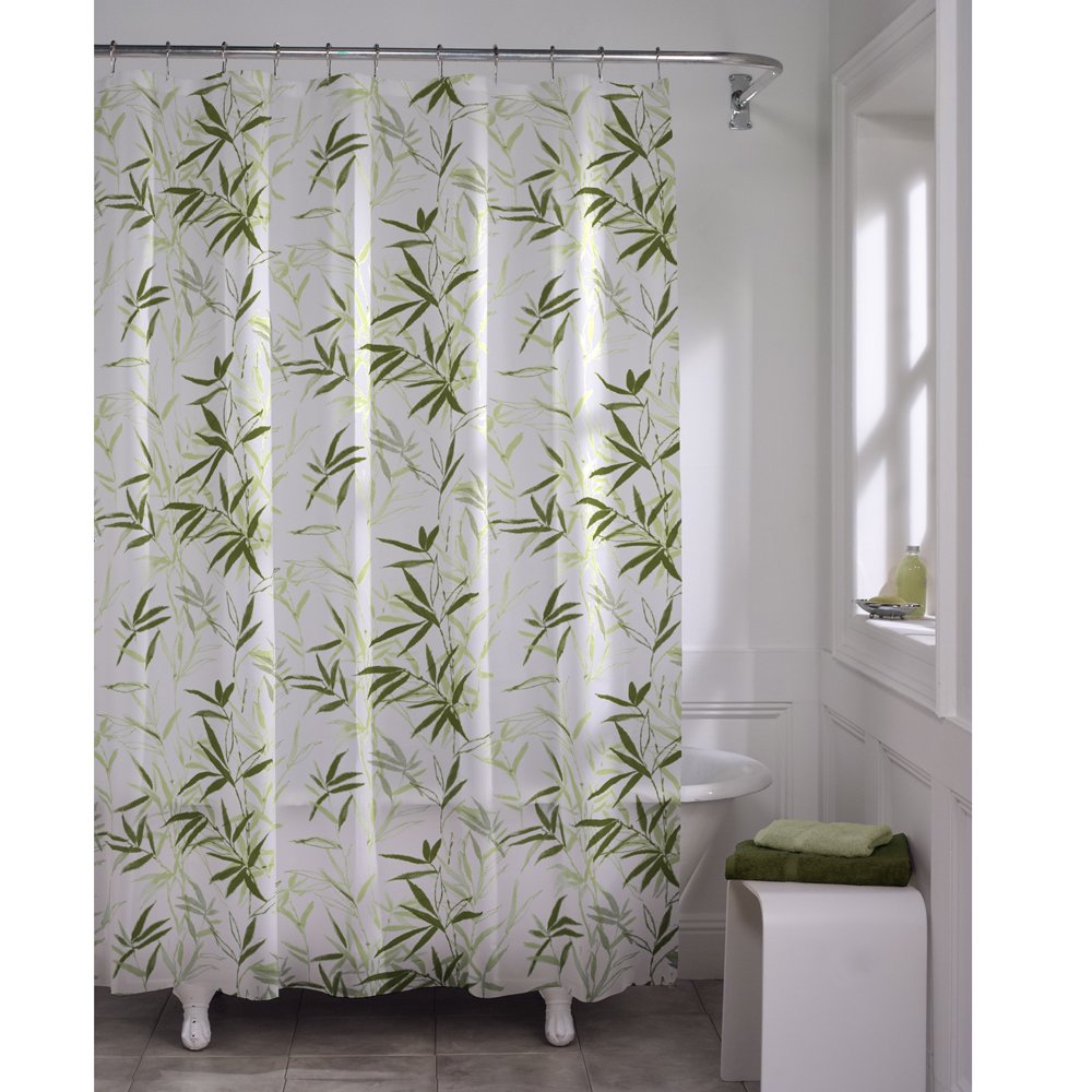 Amazon.com: Maytex Zen Garden Waterproof PEVA Shower Curtain: Home ...