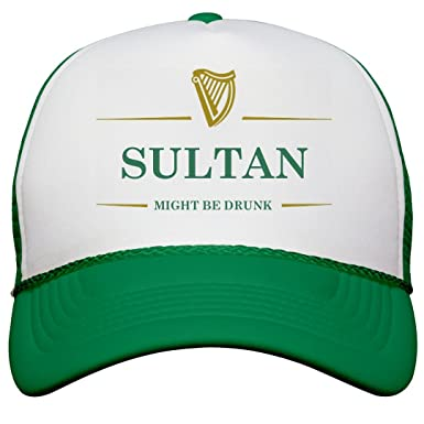 e0ede207200 Amazon.com  Sultan Might Be Drunk St Pat s  Snapback Trucker Hat  Clothing