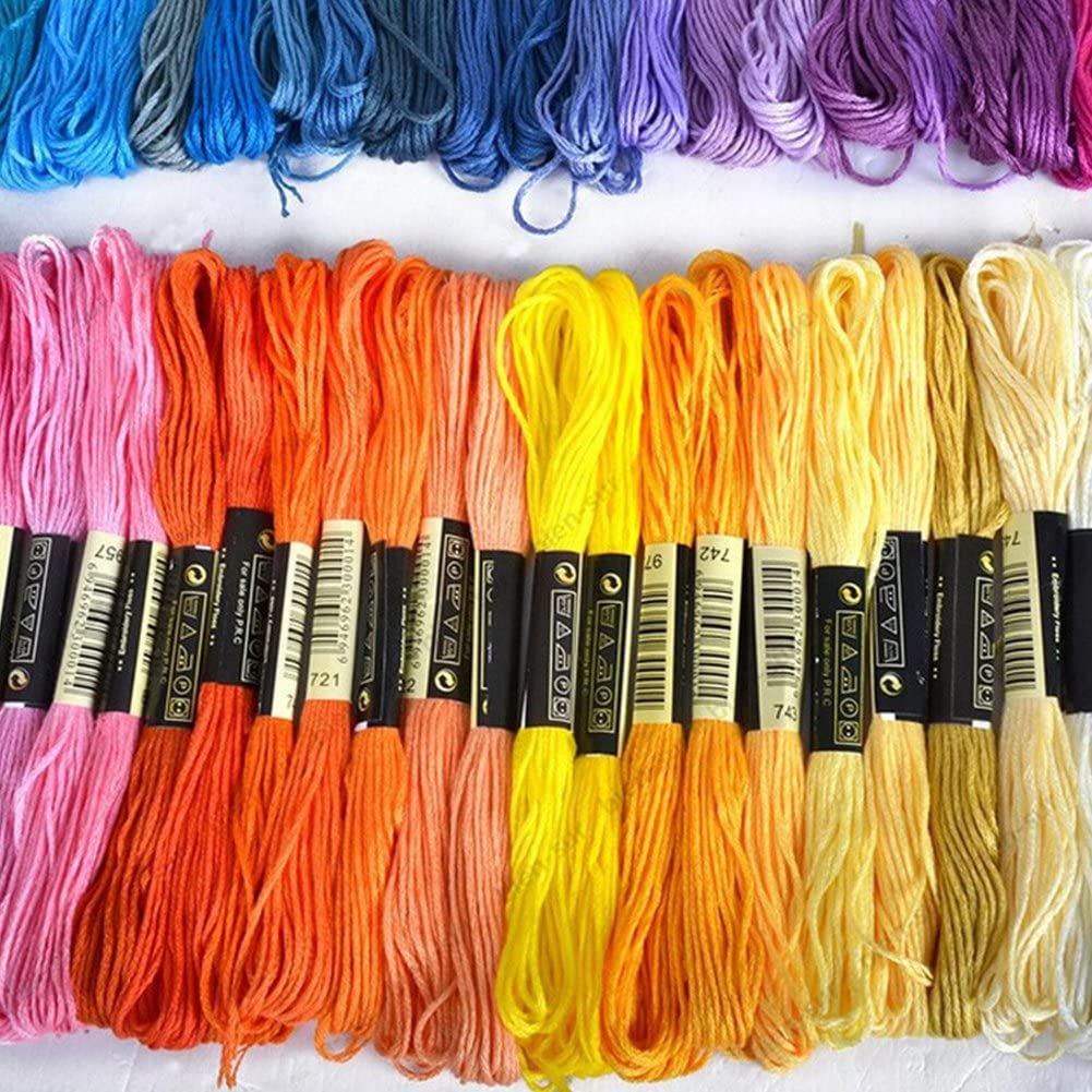 Stickgarn N/ähgarn Bastelarbeiten 50 St/ück//Set /ähnliches DMC Kreuzstichgarn aus Baumwolle