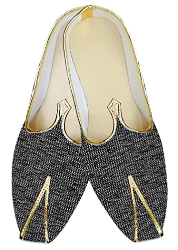 Mens Gray Jute Indian Wedding Shoes MJ012486