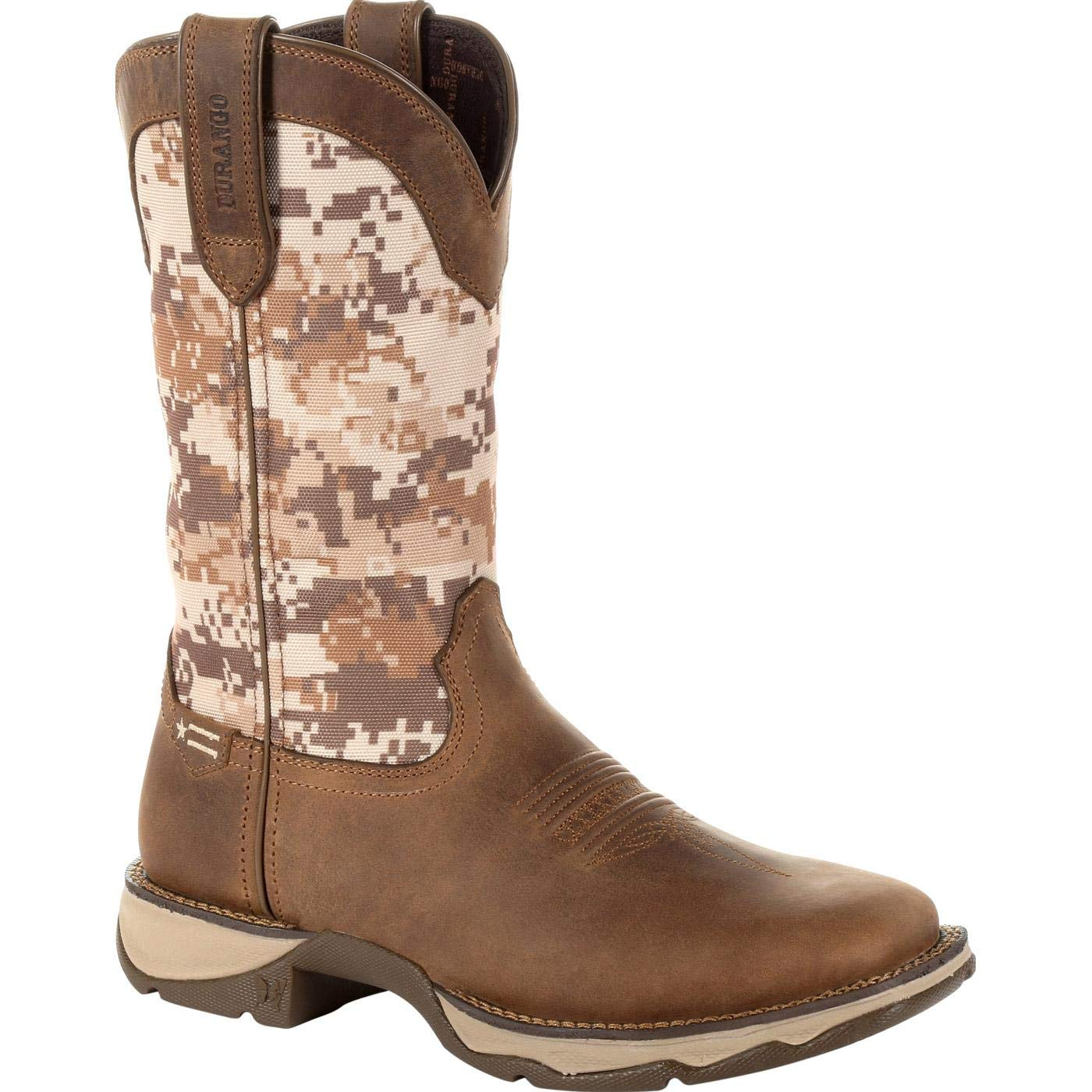 Durango Lady Rebel Women's Desert Camo Western Boot Mid Calf, Dusty Brown, 11 M US by Durango