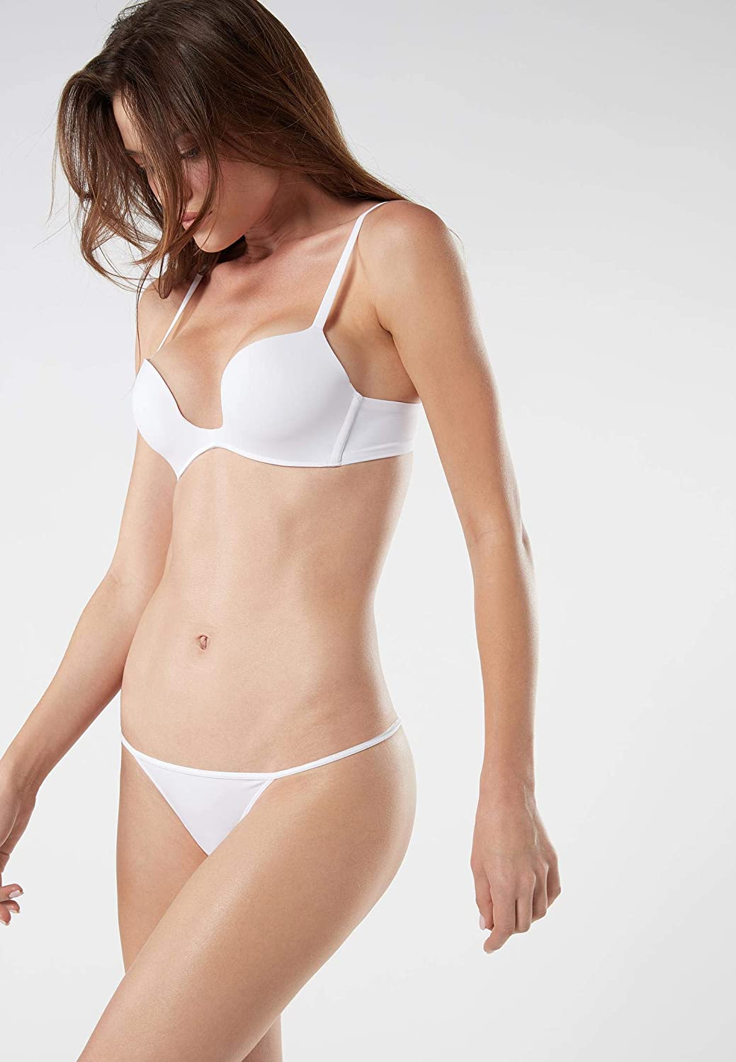 Intimissimi Womens Microfiber G String with Narrow Side Panels