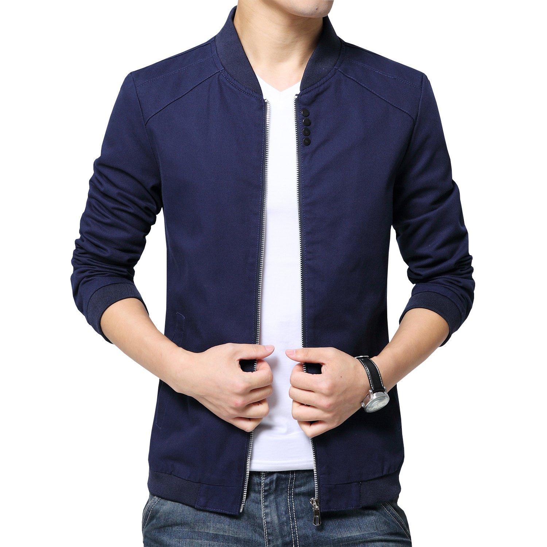 Men's blue casual jacket