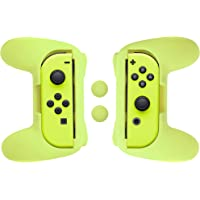 AmazonBasics - Kit de empuñaduras para mandos Joy-Con de Nintendo Switch - Amarillo neón