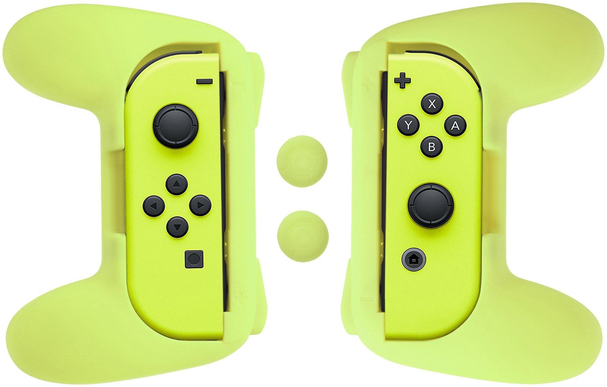 AmazonBasics Grip Kit for Nintendo Switch Joy-Con Controllers - Yellow product image
