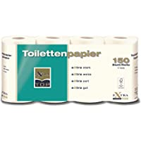 Extra Top Toalettpapper, rulle med 150 ark vardera eXtra stark, eXtra vit, eXtra mjuk, eXtra bra, toalettpapper…
