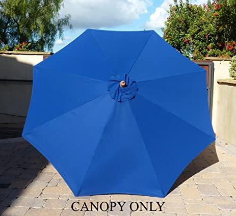 9ft Umbrella Replacement Canopy 8 Ribs in Royal Blue (Canopy Only) & Amazon.com : 9ft Umbrella Replacement Canopy 8 Ribs in Royal Blue ...