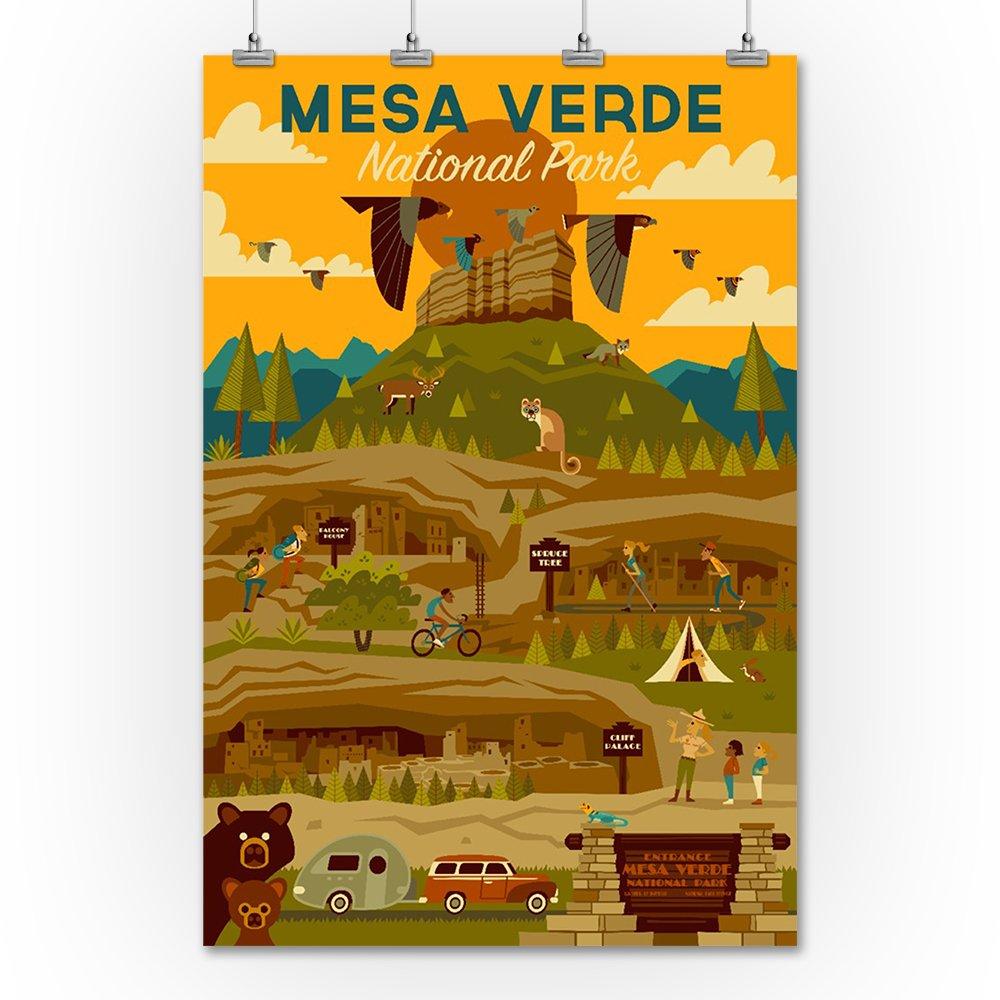 24x36 SIGNED Print Master Art Print - Wall Decor Poster Mesa Verde National Park Geometric 85675