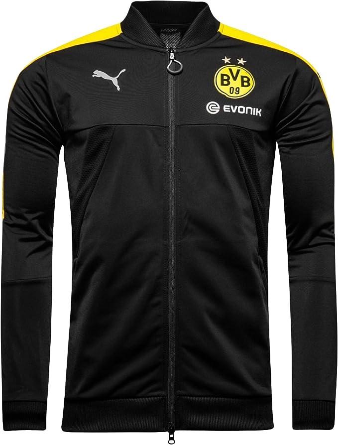 Puma: chaqueta Stadium Borussia Dortmund, negra, para niños Negro ...