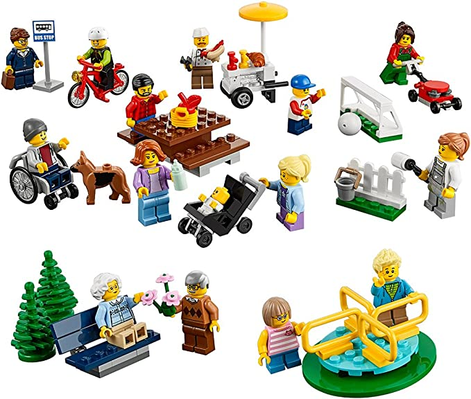 Lego Bench Stool Seat for Minifigs Figures Figs House X2