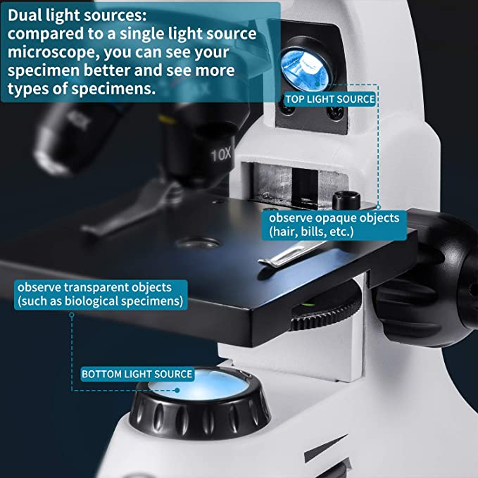 Microscopio monoculare biologico H5x 10x 12.5 X 16 ingrandimento Cloverclover