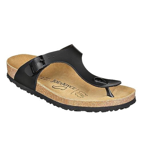 5b4687877df220 JOE N JOYCE Damen Rio SynSoft Soft Fußbett Zehentrenner Black Größe 36 EU  Normal