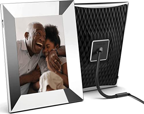 Nixplay 2K Smart Digital Picture Frame 9.7 Inch Silver