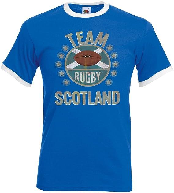 Team Scotland Rugby Mens Retro T-Shirt Camiseta Para Hombre Perfect for World Cup &