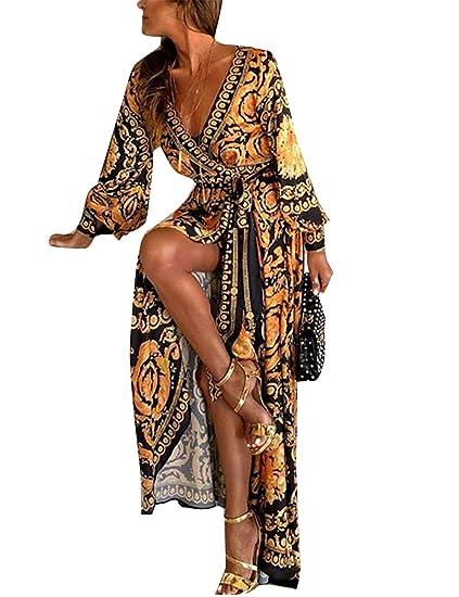 Vestidos De Cóctel Africano Bohemio De Manga Larga Casual Invierno De Fiesta Maxi Vestido para Mujer