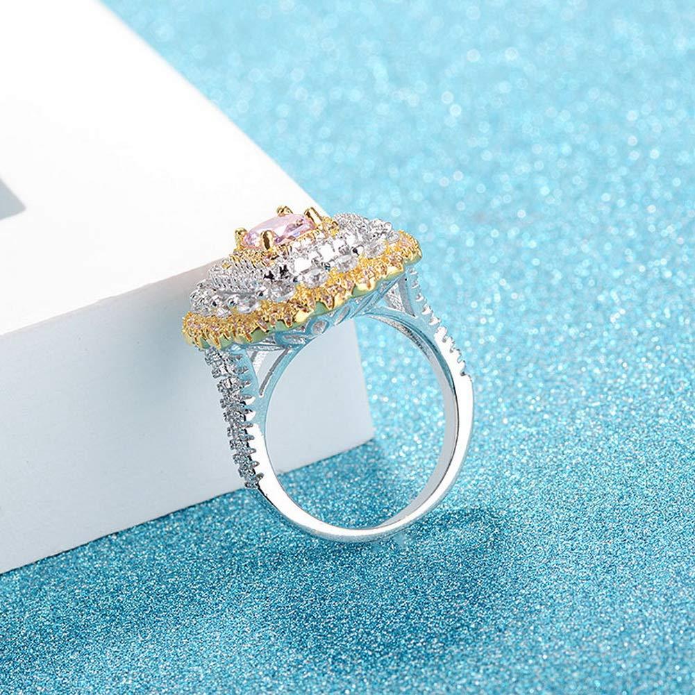 YAZILIND Elegant Cubic Zirconia Luxury Gemstone Ring Platinum Plated Wedding Party Jewelry