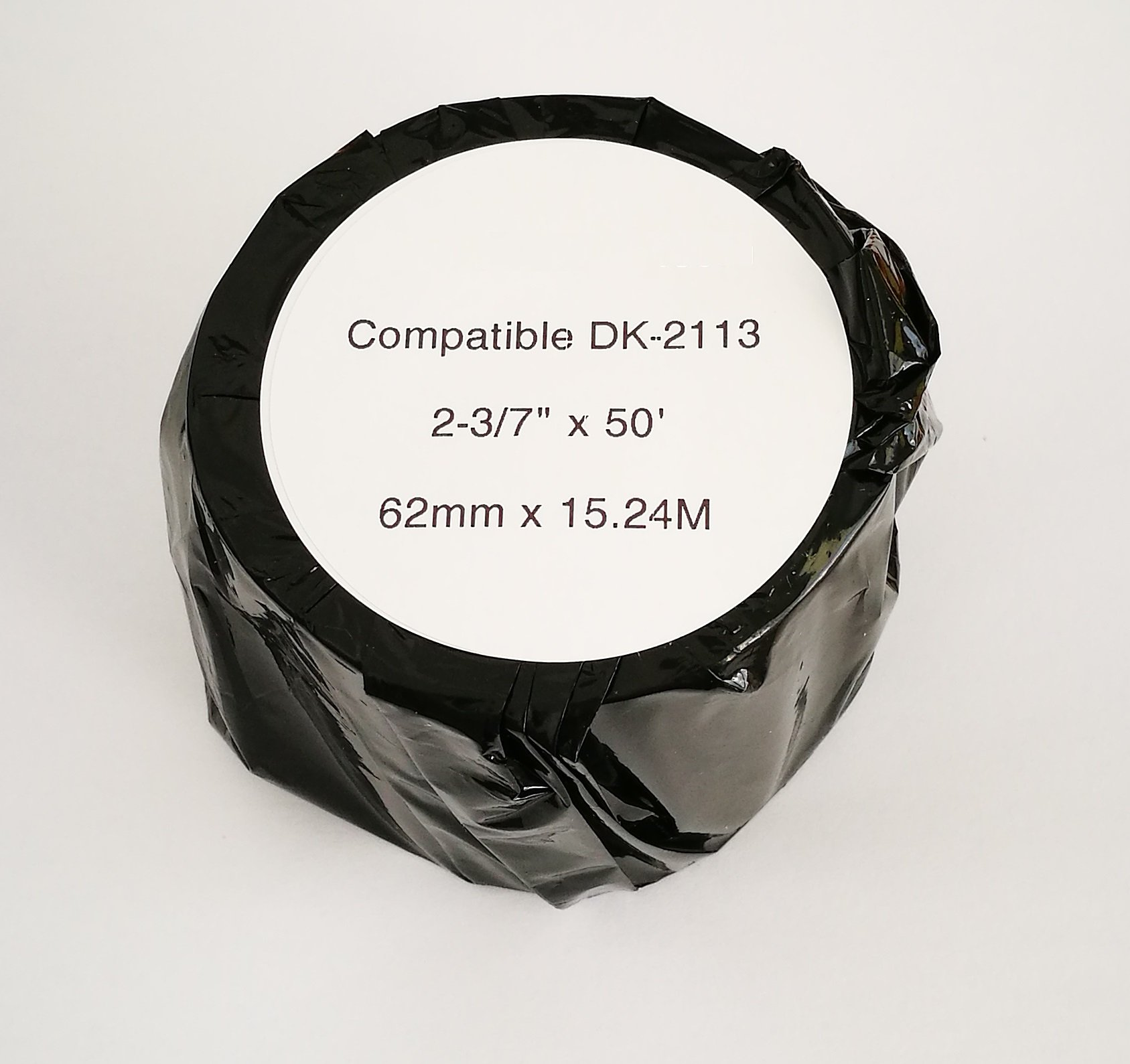 Brother-Compatible DK2113 DK-2113 Black on Clear Continuous Length Film Tape (10 rolls) by Hydrapower (Image #2)