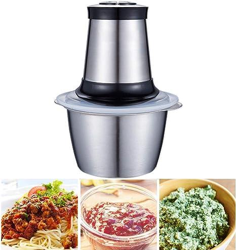 LJ2 Robot de Cocina, Alimentos Mini Chopper con 4 Cuchillas y Acero Inoxidable 1.2L Bowl, 2 velocidades licuadora y Mincer de Carne, Verduras, Frutas y nueces,A: Amazon.es: Deportes y aire libre