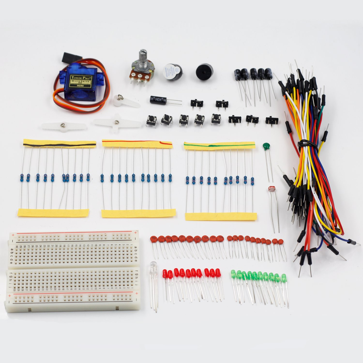 Sunfounder Sidekick Basic Starter Kit W Breadboard Small Circuits For Beginners Jumper Wires Color Led Resistors Buzzer Arduino Uno R3 Mega2560 Mega328 Nano