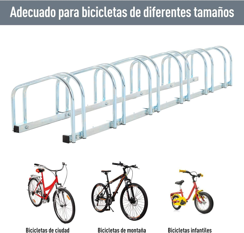 FTVOGUE Aparcamiento 3 Bicicletas Soporte para Aparcar Bicicletas,para Toda Familia Montaje a Pared o Suelo
